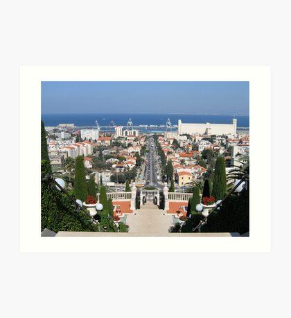 Mediterranean View Art Print