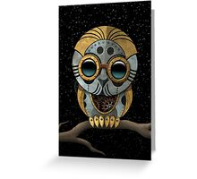 Cute Steampunk Robotic Baby Owl Greeting Card