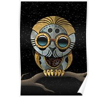 Cute Steampunk Robotic Baby Owl Poster