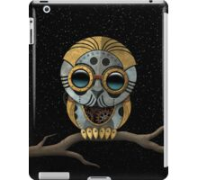 Cute Steampunk Robotic Baby Owl iPad Case/Skin