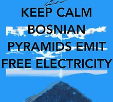 Keep Calm Free Pyramid Energy by Claritea