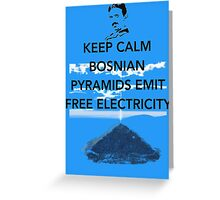 Keep Calm Free Pyramid Energy Greeting Card