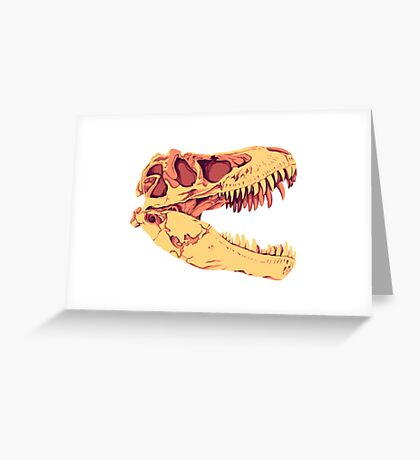 Tyrannosaurus Rex Skull Greeting Card