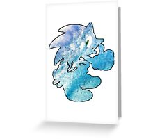 Sonic waves Greeting Card