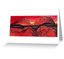 Abstract - Io the volatile moon Greeting Card
