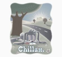 Grey Bunny invites one and all to Chilllax. by Andy Hook