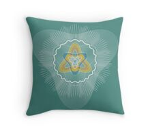 Guilloche Sacred Three Throw Pillow