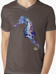 Watercolor Seahorse Mens V-Neck T-Shirt