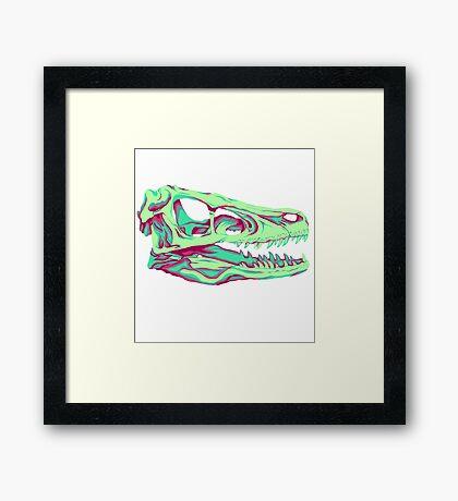 Velociraptor Skull Framed Print