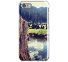 Field of Stumps in Tall Grasses by the Lake iPhone Case/Skin