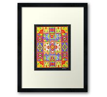 COLOURFULL 1 - COLOURED PENCILS Framed Print