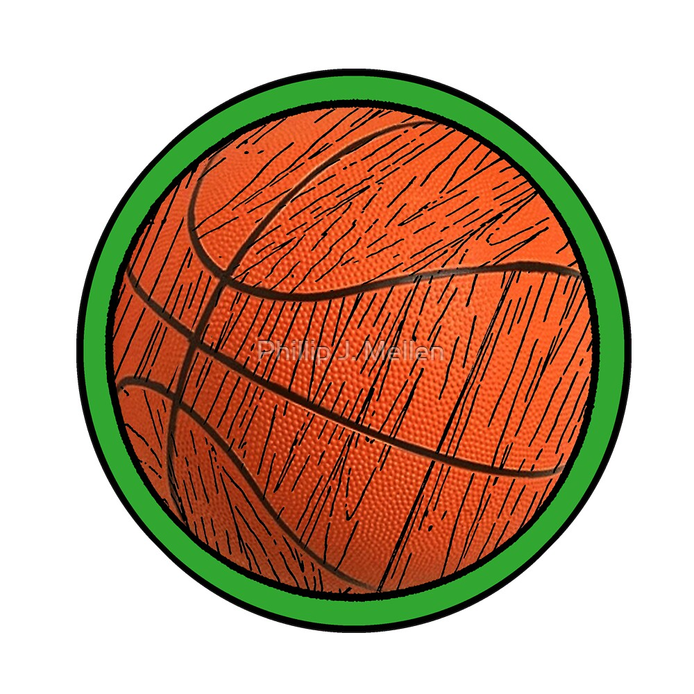 Basketball square by Phillip J. Mellen