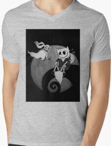 The Nightmare Before Adventure Time Mens V-Neck T-Shirt