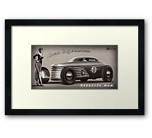 Laura Lange and the amazing Electric Rod - clear background Framed Print