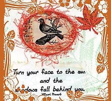 """Turn Your Face"" Quote Book Page  by Sandra Foster"