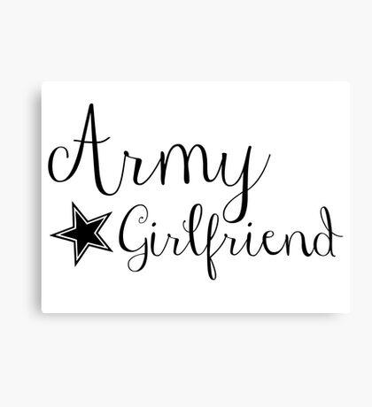 Army Girlfriend Canvas Print