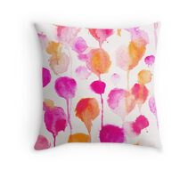 Pink Water Colour Throw Pillow