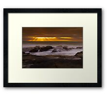 Lashes of Mist - Prevelly, WA Framed Print
