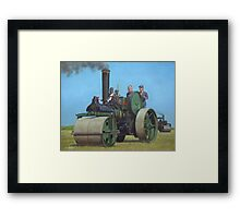 steam traction engine Framed Print