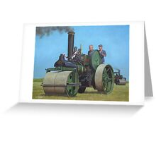 steam traction engine Greeting Card