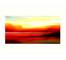 Abstract Colors Oil Painting #2 Art Print