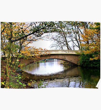 Stanley Park Bridge In Autumn Poster