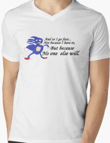 So I Go Fast - Sanic Mens V-Neck T-Shirt