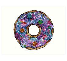 Homer Simpson - Donut Shaped Universe Art Print