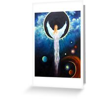 """Angel Of The Eclipse"" Greeting Card"