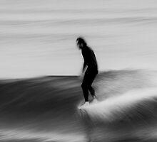 Walking On Water- Surfing Boomerang Beach Australia by CRSPHOTO