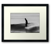 Walking On Water- Surfing Boomerang Beach Australia Framed Print