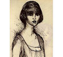 Night Fever Girl Photographic Print