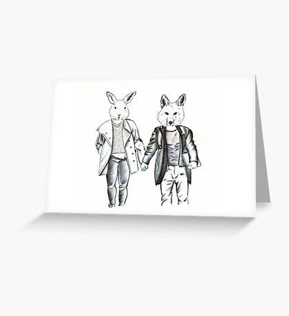 Animal Head People Greeting Card