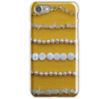 Assortment of white necklaces  iPhone Case/Skin