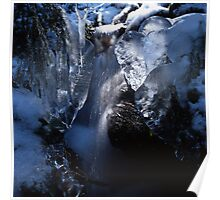 Blue waterfall in  winter 4 Poster