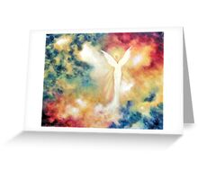 """Angel Light"" Greeting Card"