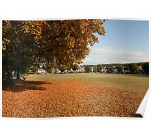 Buckinghamshire Village Green in Autumn Poster