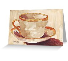 Be a coffee-drinking individual - Espresso yourself!  Greeting Card