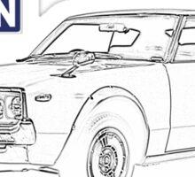 Datsun 240k with logo Sticker