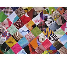 Funky mosaic card Photographic Print