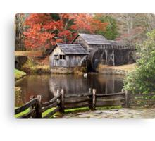 Autumn at the Mill Metal Print