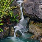Japanese Garden Waterfall by Andi Surjanto