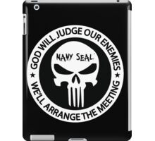 god will judge our enemies we'll arrange the meeting - white iPad Case/Skin