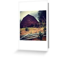 Distressed Red Barn  Greeting Card