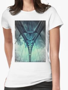 Humber River Bridge Blue Womens Fitted T-Shirt