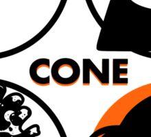 Cone: Orange Juice Flavour Sticker