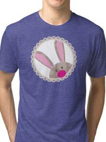 BUNNIES :: peeking circle 1 Tri-blend T-Shirt