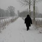 Mom walking in the snow by Sanne Thijs