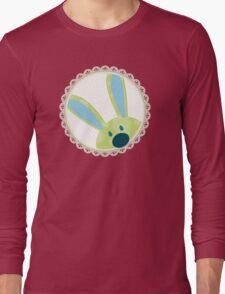 BUNNIES :: peeking circle 3 Long Sleeve T-Shirt