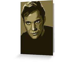 Captain Kirk stylized in gold (Star Trek) Greeting Card